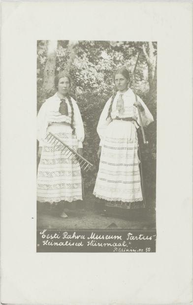 0fd54ced902 Nr. 50: Heinalised Hiiumaal. ERM Pk 1:1/48 1912.a. Tiraaž 1477. Woldemar  Thomsoni fotoäri. Foto: Gustav Lember (1874-1916) Hiiu heinalised